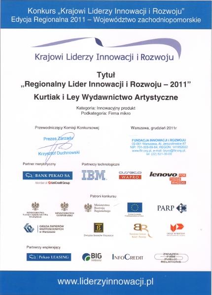 Regionalny Lider Innowacji i Rozwoju - Grudzień 2011