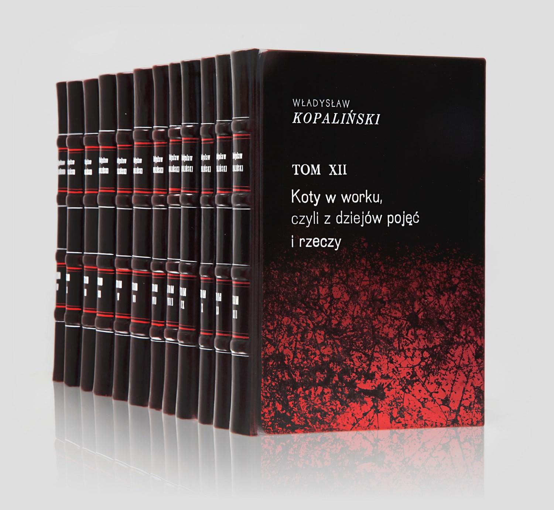 Kopaliński Słowniki w unikatowej oprawie w skórę do biblioteki gabinetowej