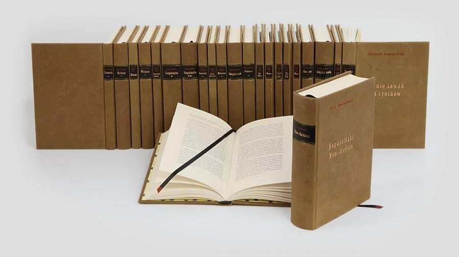 Ryszard Kapuściński, Dzieła w ręcznej oprawie w skórę. Piękne książki do biblioteki domowej.