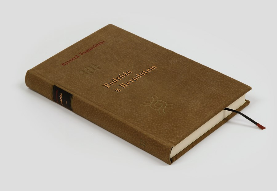Kapuściński R., Podróże z Herodotem. Ekskluzywna książka w skórze. Świetna na ekskluzywne prezenty