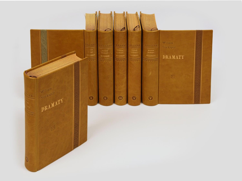 Shakespeare W. Dzieła w luksusowej oprawie w skórę. Z cyklu Piękne Książki do biblioteki gabinetowej.