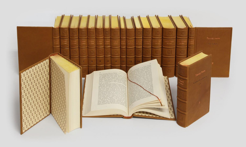 Tomasz Mann Dzieła zebrane w ręcznej oprawie w skórę do biblioteki prywatnej.