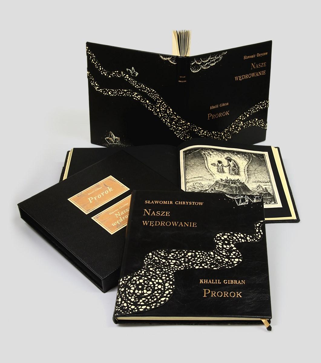 Gibran, Prorok, unikatowa oprawa w skórę, książka kolekcjonerska