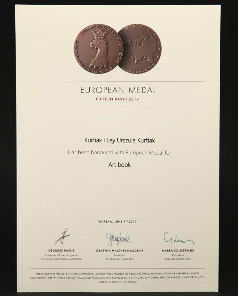 European Medal za książki artystyczne i usługi introligatorskie