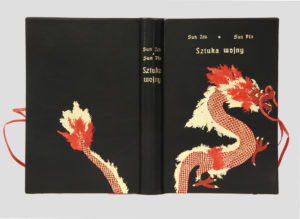 Sztuka Wojny Sun Tzu oprawa artystyczna w skórę. Introligatorstwo artystyczne