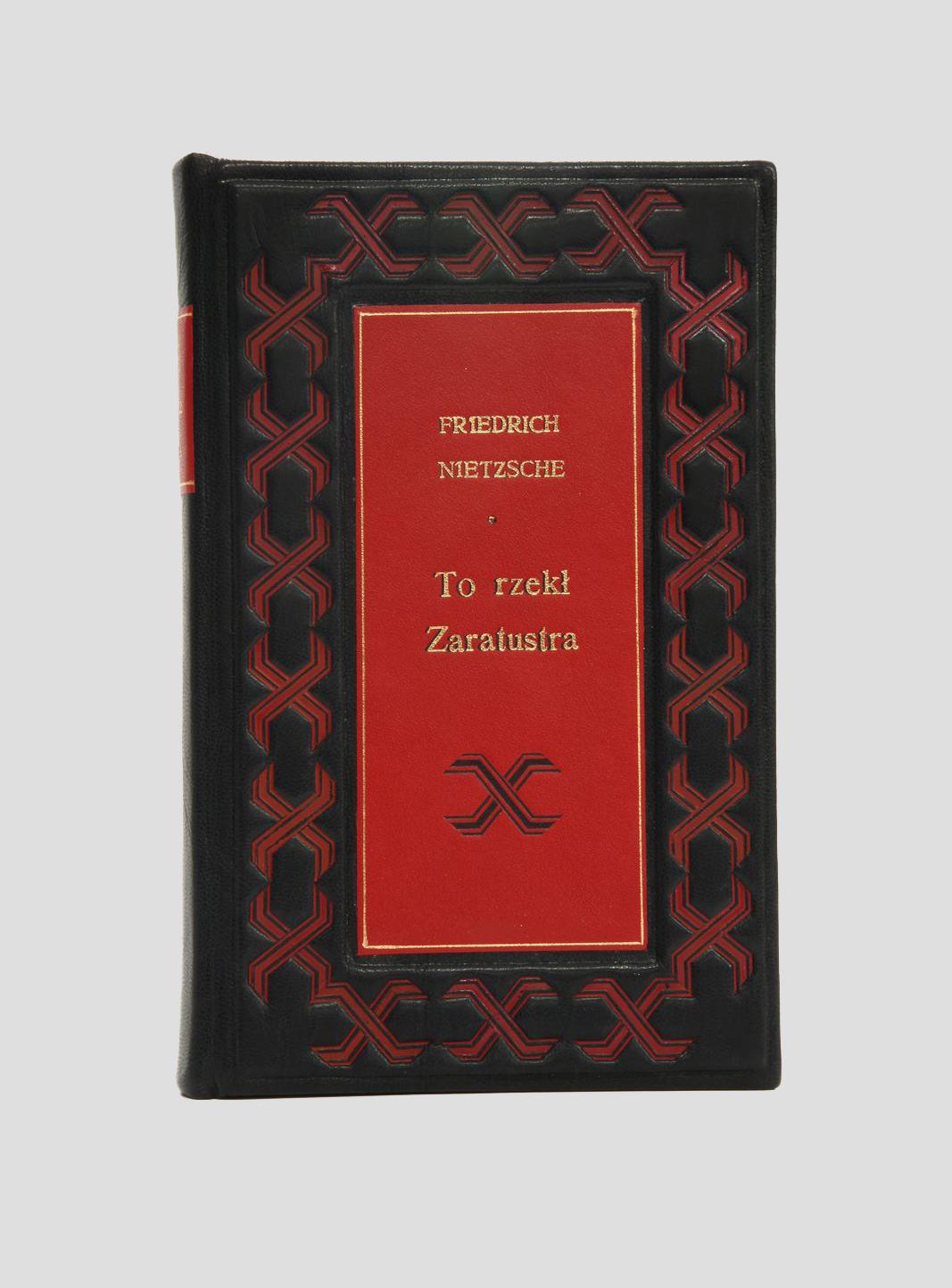 Nietzsche Jako rzecze Zaratustra oprawiony w skórę