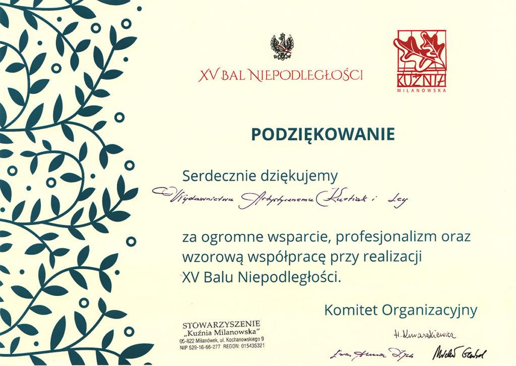 XV Bal Niepodległości - Wydawnictwo Artystyczne Kurtiak i Ley