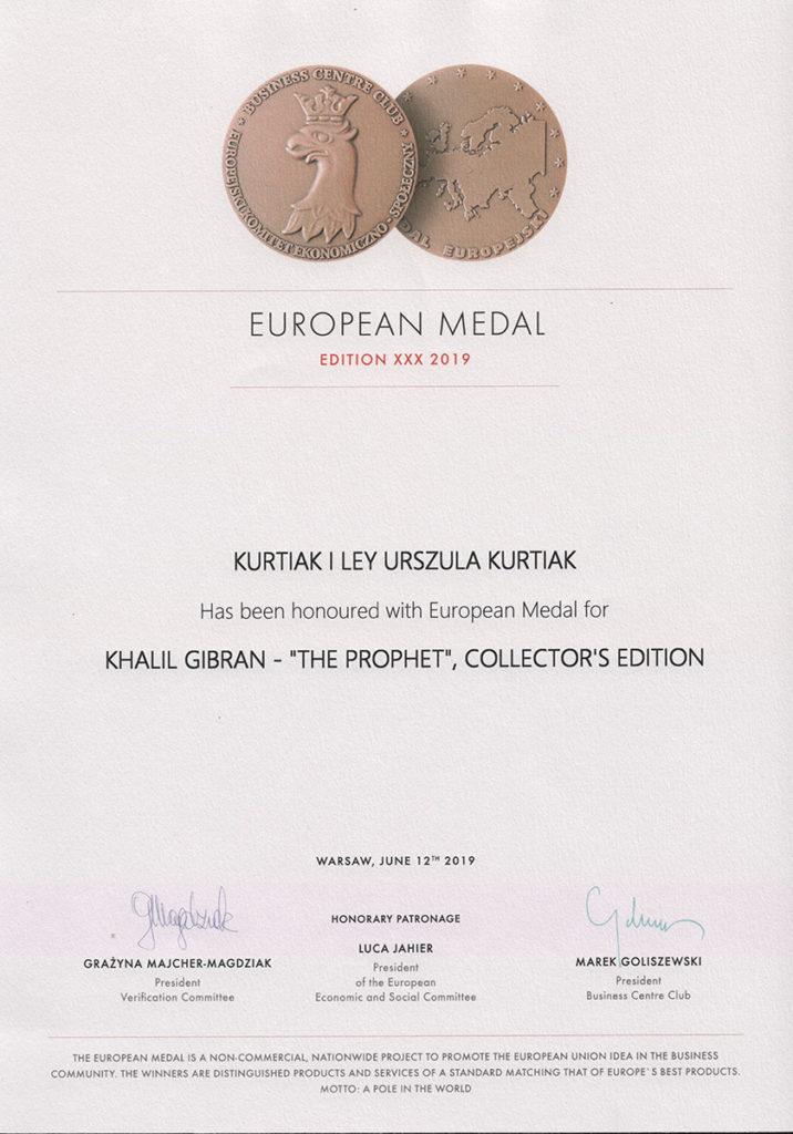 Medal europejski 2019 En