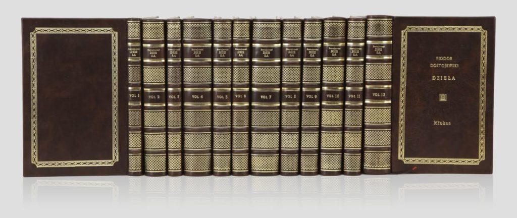 Kolekcja książek Dostojewskiego Fiodora, zbiór dzieł