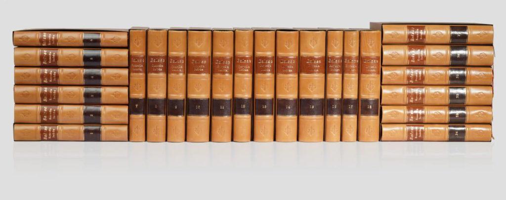 Ekskluzywna biblioteka książek Honoriusza Balzaca, zbiór dzieł