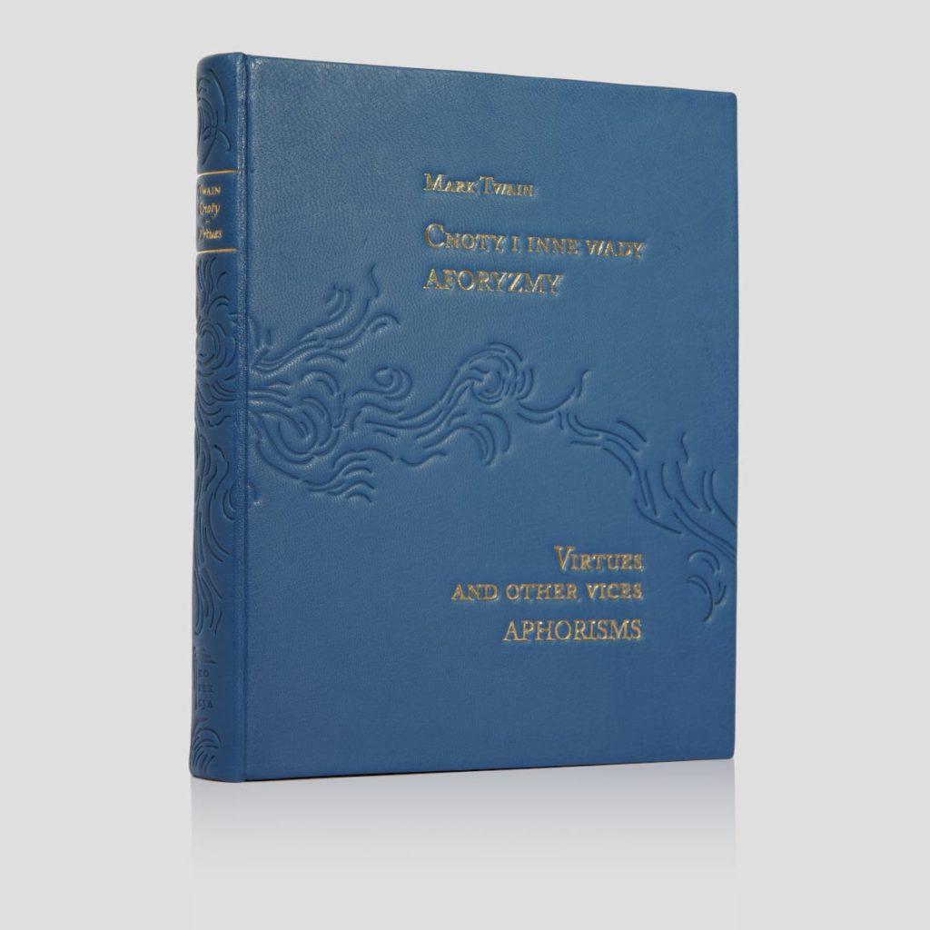 Oprawa artystyczna książki Twaina Marka, Cnoty i inne wady. Aforyzmy