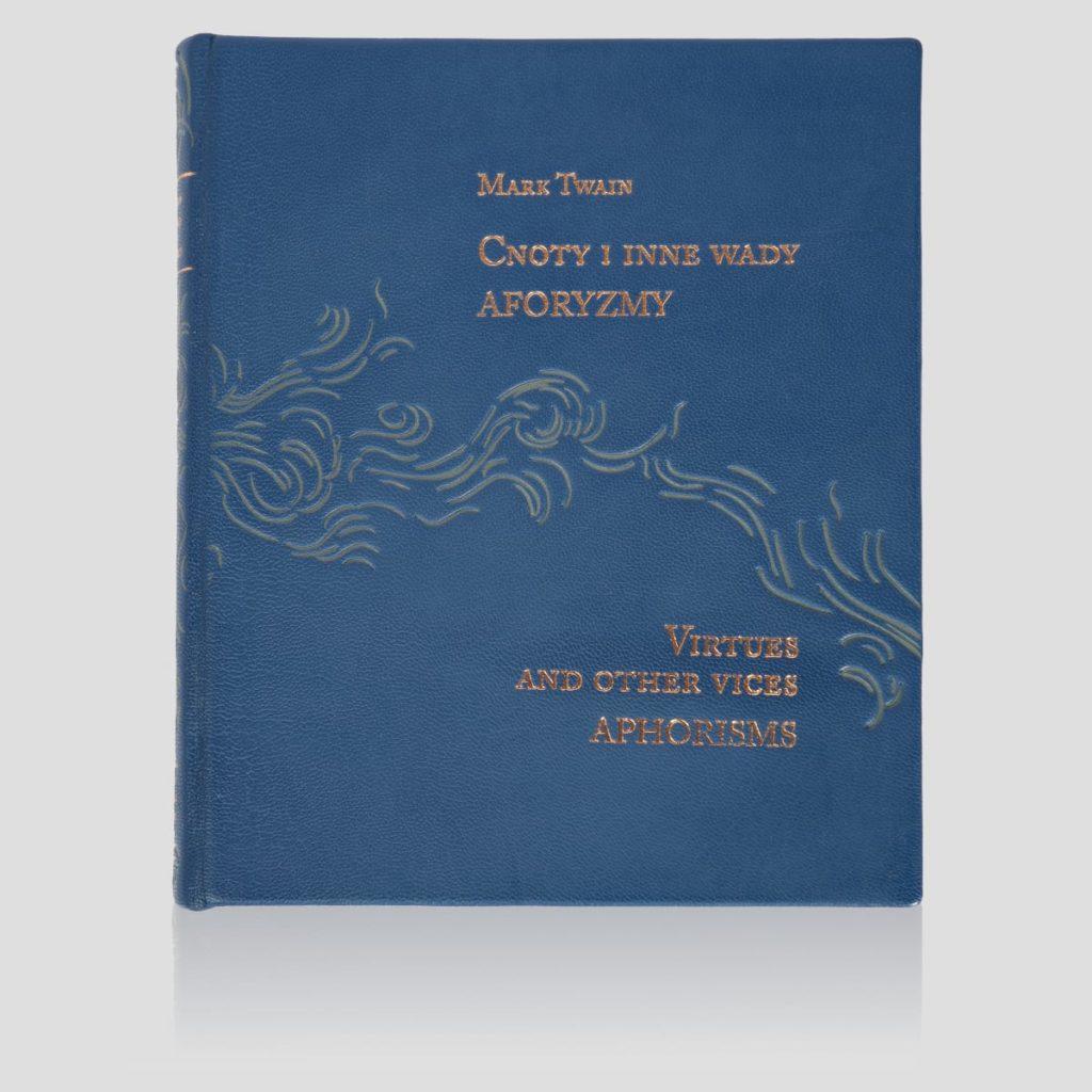 Książka Twaina Marka, Cnoty i inne wady. Aforyzmy w skórzanej oprawie