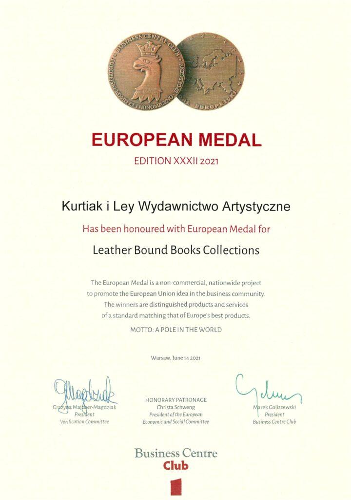 Medal europejski 2021