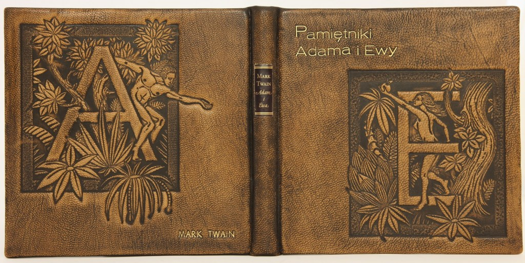 Twain Pamiętniki Adama i Ewy, edycja kolekcjonerska. oprawa ręczna w skórę, pierwsze wydanie