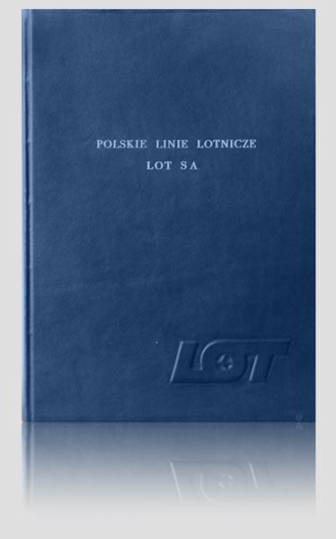 Pamiątkowa księga gości PLL LOT, artystyczna kronika