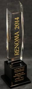 Statuetka nagrody Renoma 2014