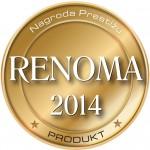 Godło nagrody Renoma 2014 za Produkt Roku