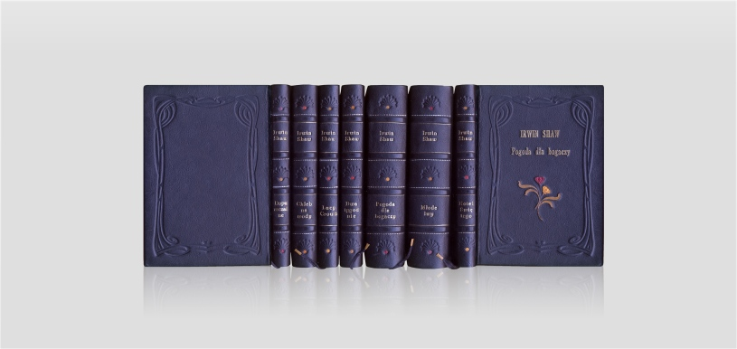 Shaw Irwin, Rich Man, Poor Man and other works - collector's edition - home library - artist's book - fine leather binding