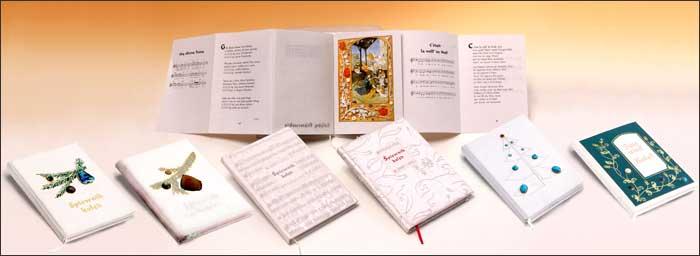 Prezent biznesowy: Śpiewnik kolęd — artystyczna oprawa książek, Wydawnictwo i Introligatornia Artystyczna Kurtiak i Ley w Koszalinie
