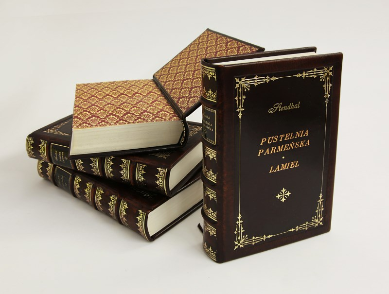 Stendhal, The Red and the Black and other works - classic style bookbinding - artist's book - collector's edition - home library