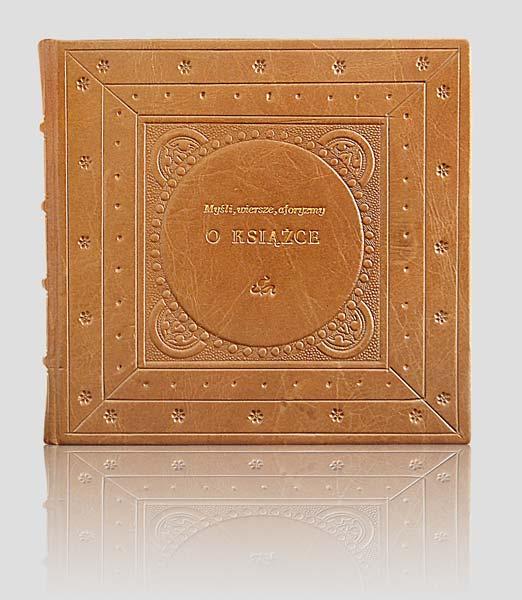 Aforyzmy o książce, oryginalna oprawa introligatorska, książka artystyczna. Wydawnictwo i Introligatornia Artystyczna Kurtiak i Ley Koszalin