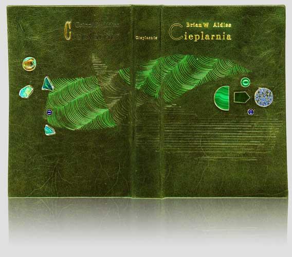 """Aldiss """"Cieplarnia"""" — artystyczna oprawa książek, Wydawnictwo i Introligatornia Artystyczna Kurtiak i Ley w Koszalinie. Introligatorska oprawa jubilerska"""