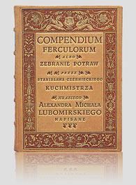 COMPENDIUNM FERCULORUM — artystyczna oprawa książki, Wydawnictwo i Introligatornia Artystyczna Kurtiak i Ley w Koszalinie.