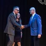 Gratulacje z okazji wręczenia kolejnego Złotego Medalu dla Urszuli Kurtiak i Edwarda Ley