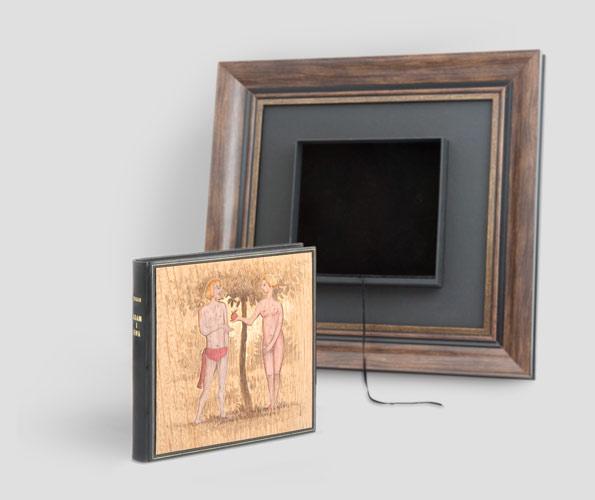 """Mark Twain — """"Pamiętniki Adama i Ewy"""" wydanie kolekcjonerskie oprawa w skórę prezent ślubny"""