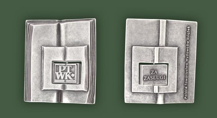 """medal PTWK """"za działalność na rzecz książki, jako dzieła sztuki"""""""