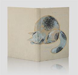 """Poświatowska, wiersze """"Indeed I love - Właśnie kocham"""" — artystyczna oprawa książek, Wydawnictwo i Introligatornia Artystyczna Kurtiak i Ley w Koszalinie"""