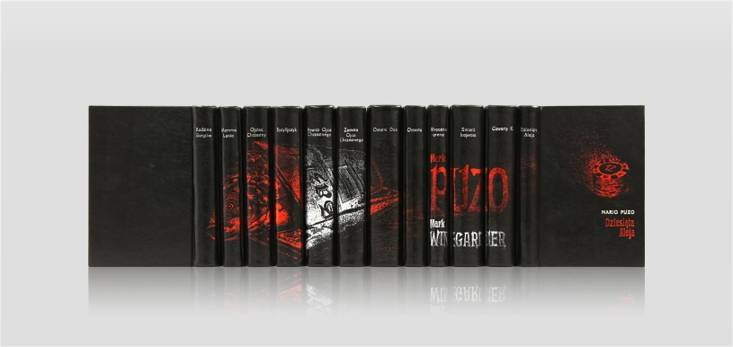 Puzo Mario, The Godfather and other works - home library - collector's edition - artist's book - fine leather hand-made bookbinding