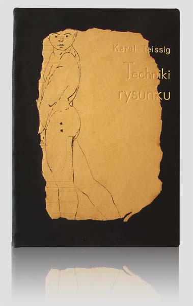 """Teissing """"Techniki rysunku"""" — artystyczna oprawa książki, Wydawnictwo i Introligatornia Artystyczna Kurtiak i Ley w Koszalinie"""