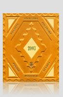 Polskie znaczki pocztowe 2003 — artystyczna oprawa książki, Wydawnictwo i Introligatornia Artystyczna Kurtiak i Ley w Koszalinie.