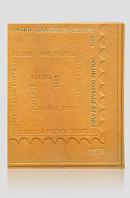 Polskie znaczki pocztowe 2002 — artystyczna oprawa książki, Wydawnictwo i Introligatornia Artystyczna Kurtiak i Ley w Koszalinie.